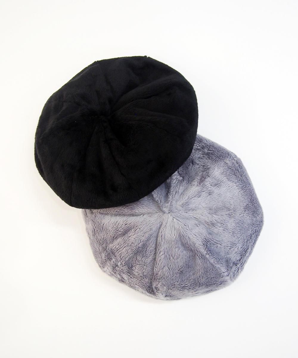 フェイクファーベレー帽【7463-7713】