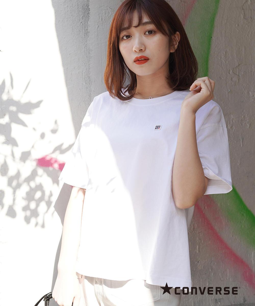 CONVERSEワッペンTシャツ【0263-9006】