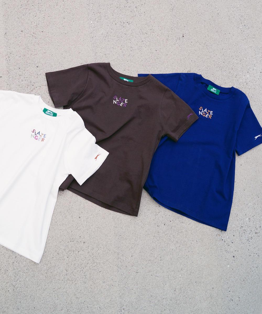 Slazengerマルチ刺繍Tシャツ【0263-9050】