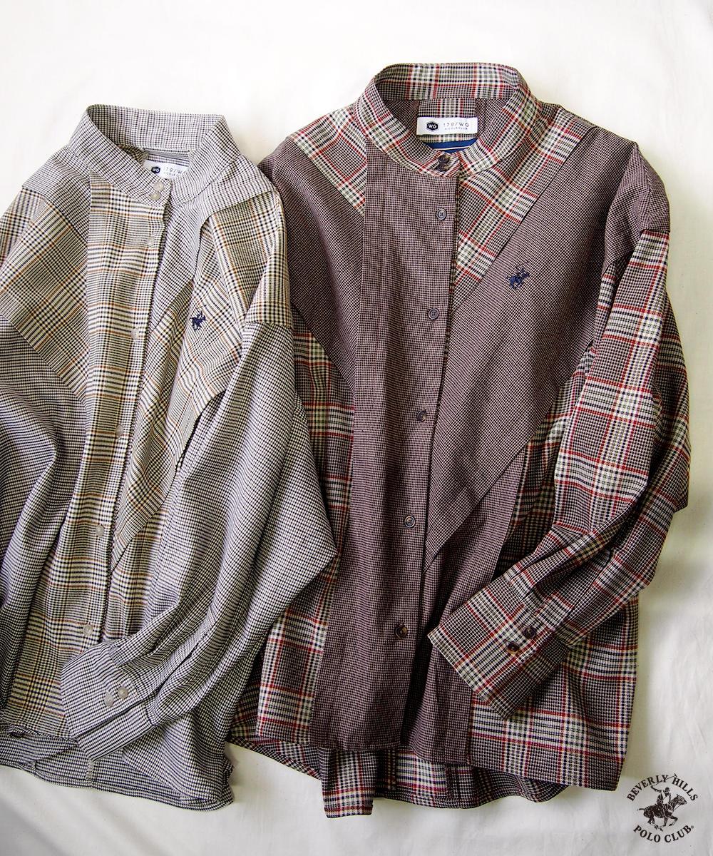 BEVERLY HILLS POLO CLUBアシメトリーオーバーシャツ【0563-8015】