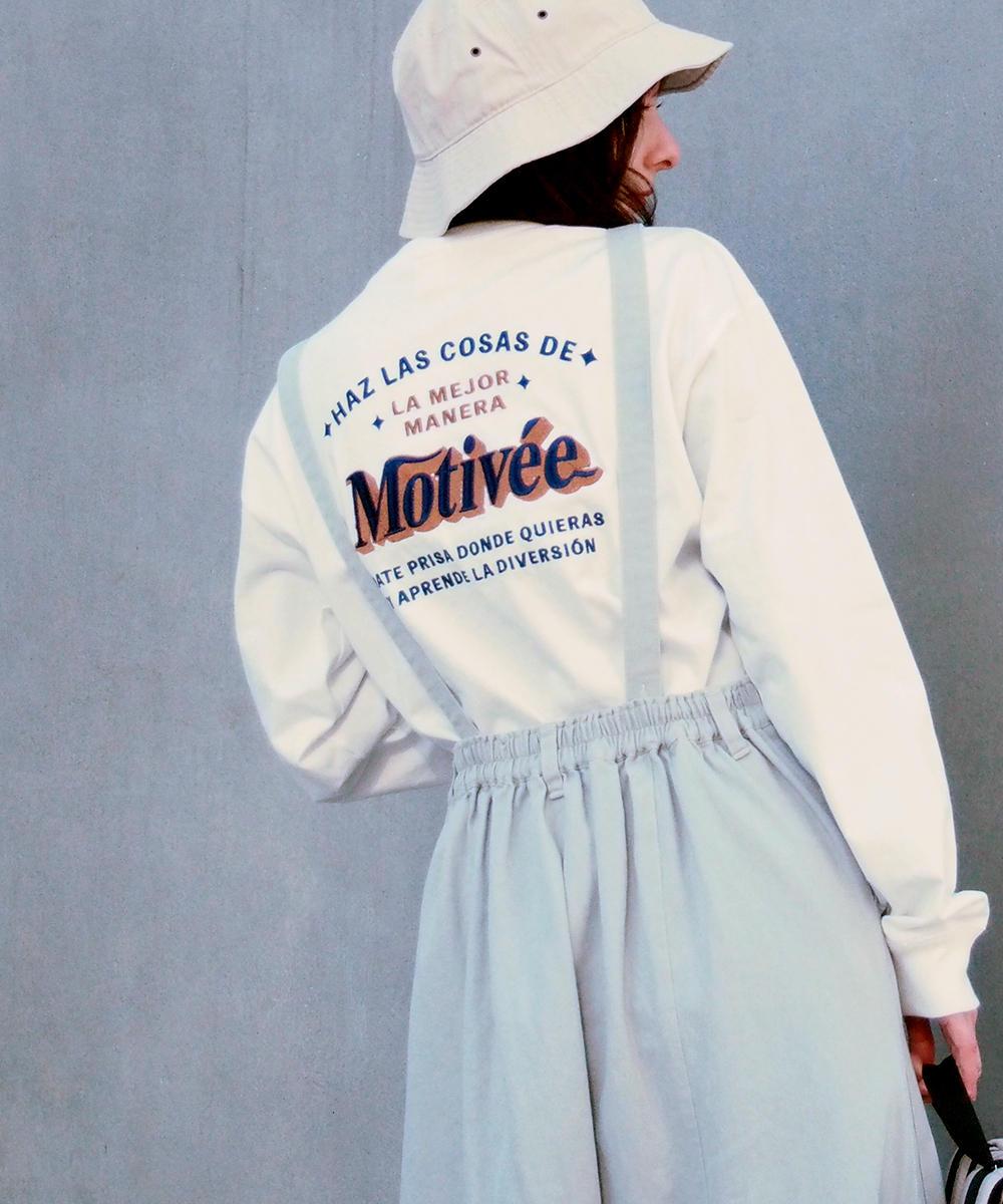 バック刺繍ロングスリーブTシャツ【1163-9103】