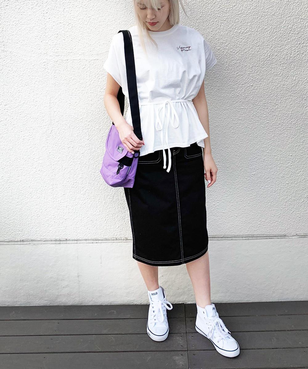 ドロスト式ロゴTシャツ【9263-9019】