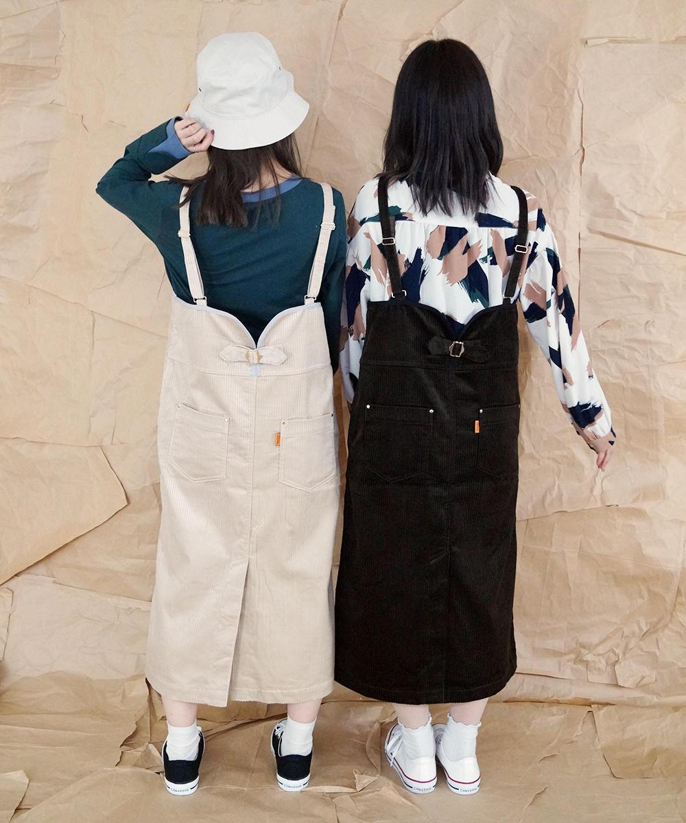コーデュロイジャンパースカート【0563-0222】