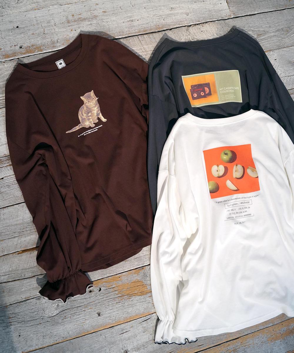 アソートプリントキャンディースリーブTシャツ