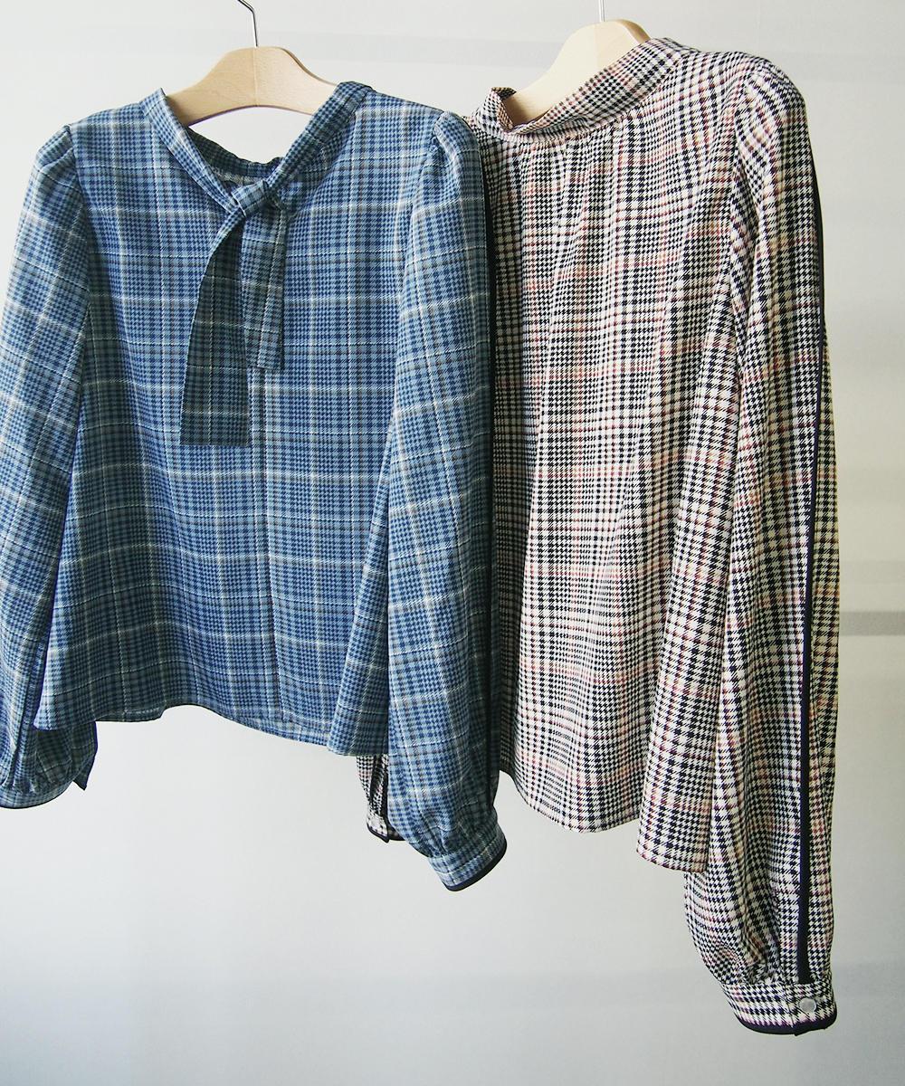 チェック柄2WAYシャツ【0463-8016】