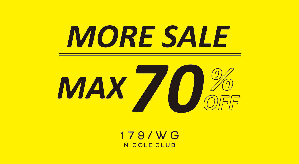 MAX70%OFF MORE SALE